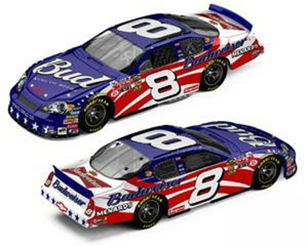 2007  Dale Earnhardt Jr. #8  Fourth of July Diecast Car