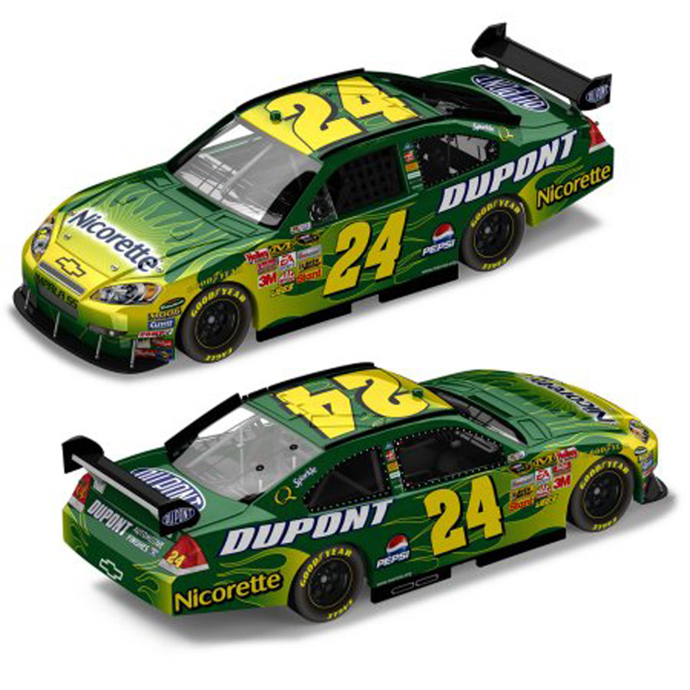 2008 Jeff Gordon #24 Nicorette Chevrolet 1/64 Action KIDS Diecast Car.