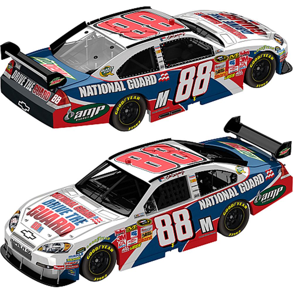 2009 Dale Earnhardt Jr #88 NG Drive the Guard 1/24   Car
