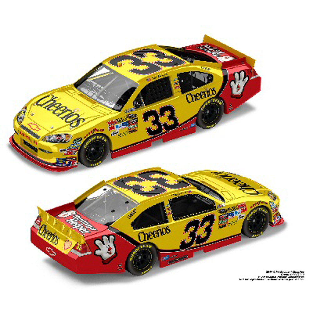 2011 Clint Bowyer   #33 Cheerios Chevy Diecast 1/24 Car