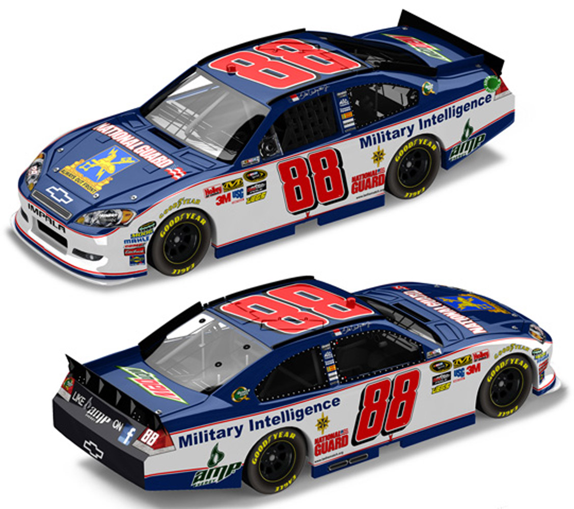 2011 Dale Earnhardt Jr #88 N/G Military Intel Diecast  Car.
