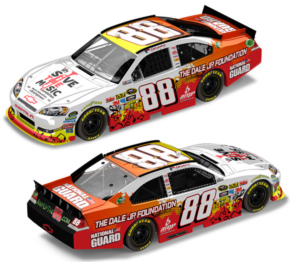 2011 Dale Earnhardt Jr #88 VH1 Save the Music Diecast Car.