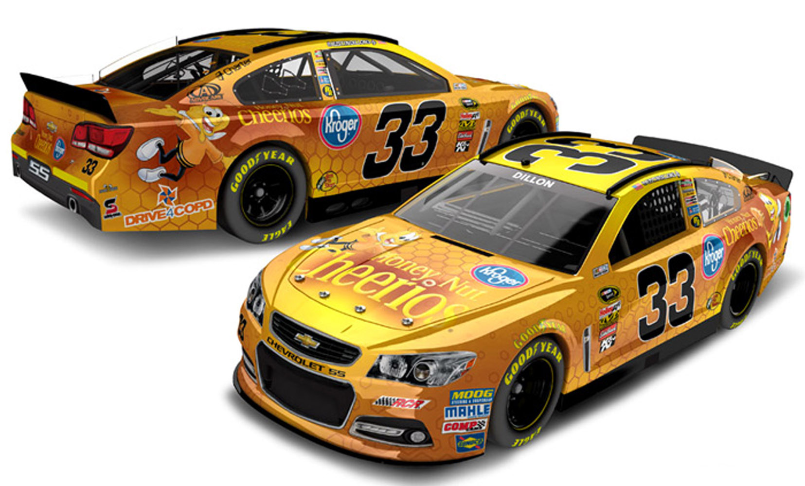 2013 Austin Dillon #33 Honey Nut Cheerios 1:24 Diecast Car