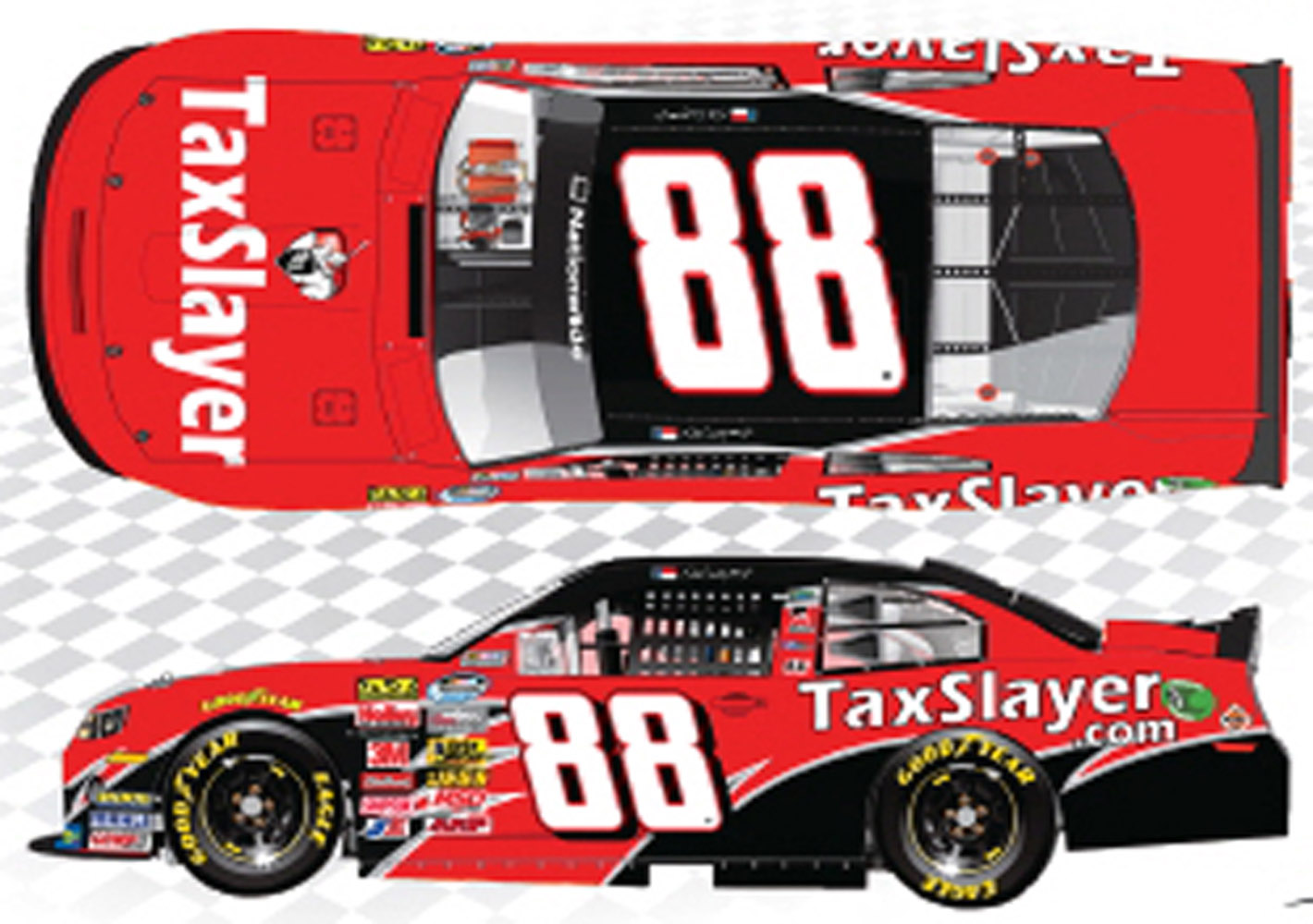 2013 Dale Earnhardt Jr #88 Taxslayer NWS 1/24 Diecast Car
