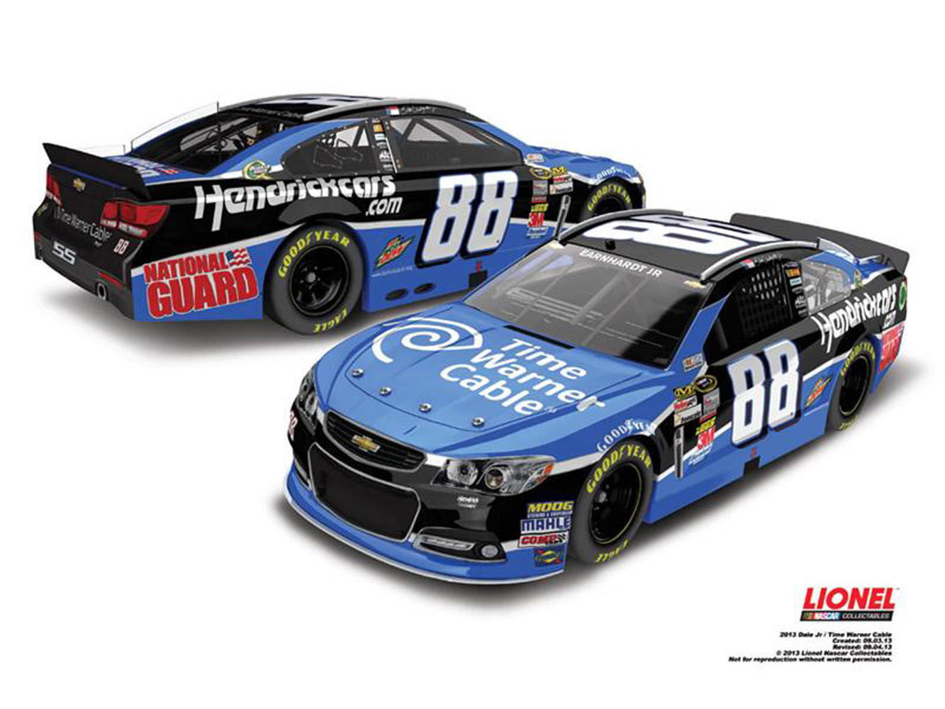 2013 Dale Earnhardt Jr  #88 Time Warner Cable 1:24 Nascar Diecast