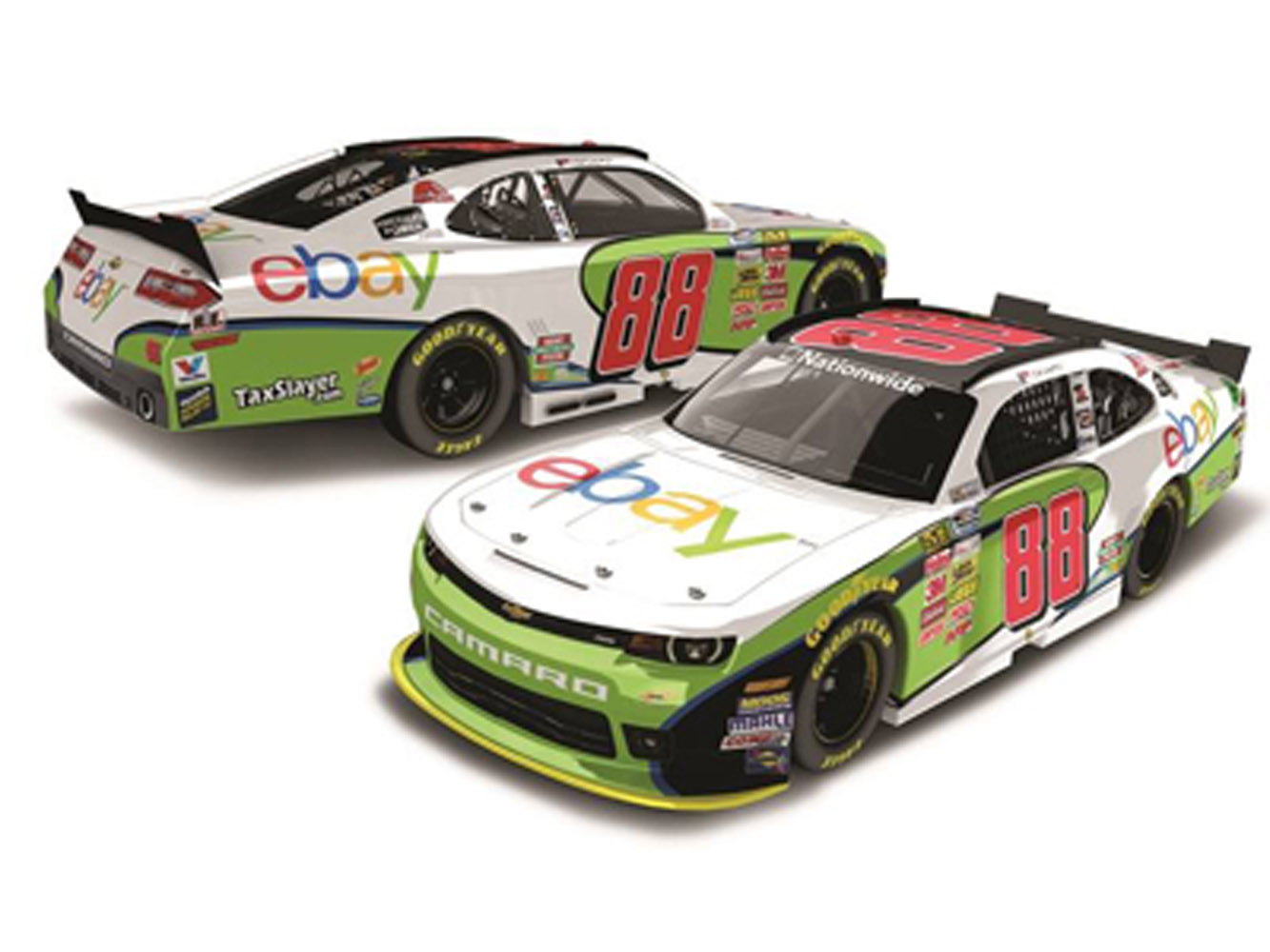2014 Dale Earnhardt Jr #88 Ebay 1/64 Diecast Car