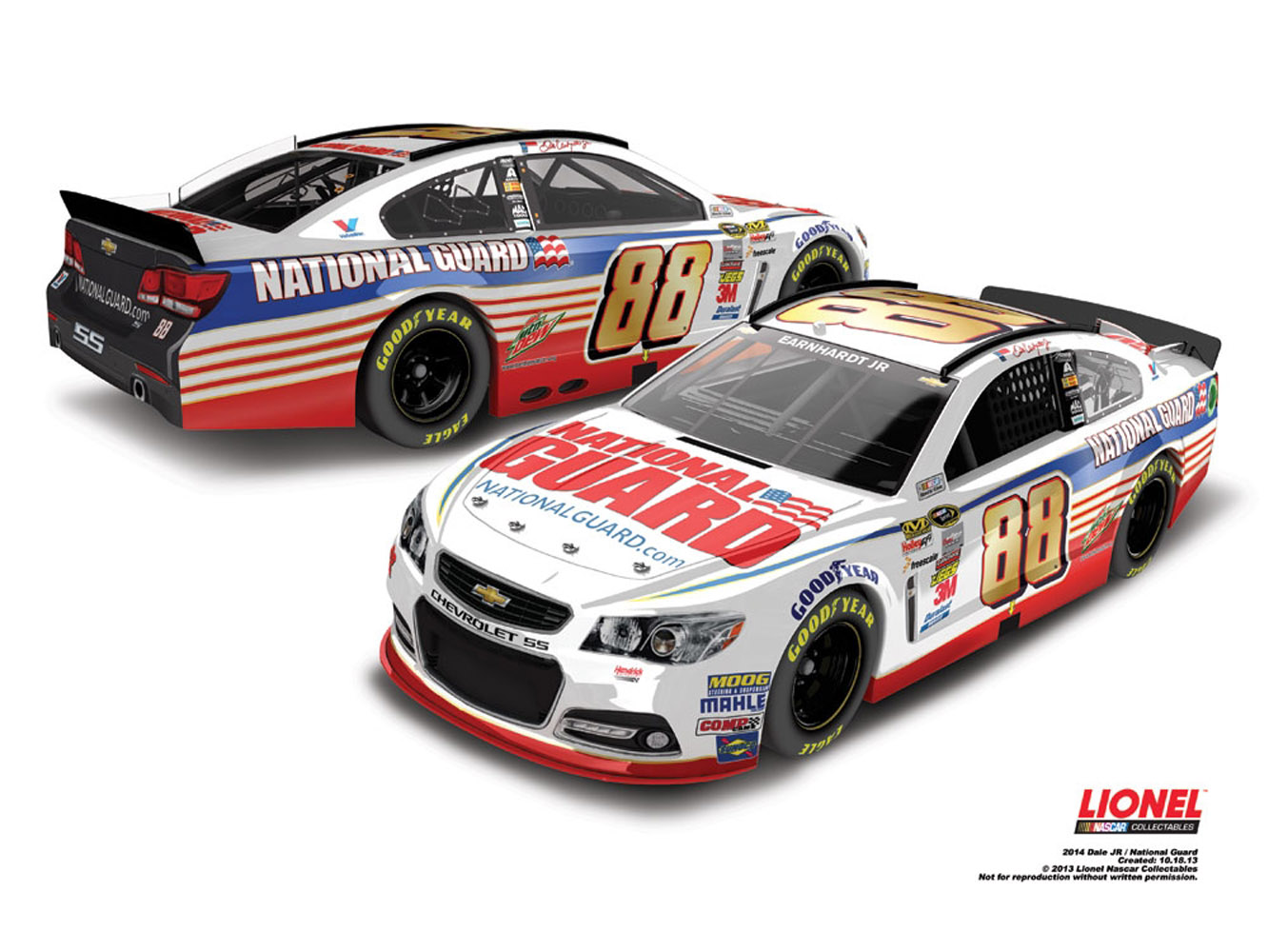 2014 Dale Earnhardt Jr #88 National Guard 1/64 Diecast Car