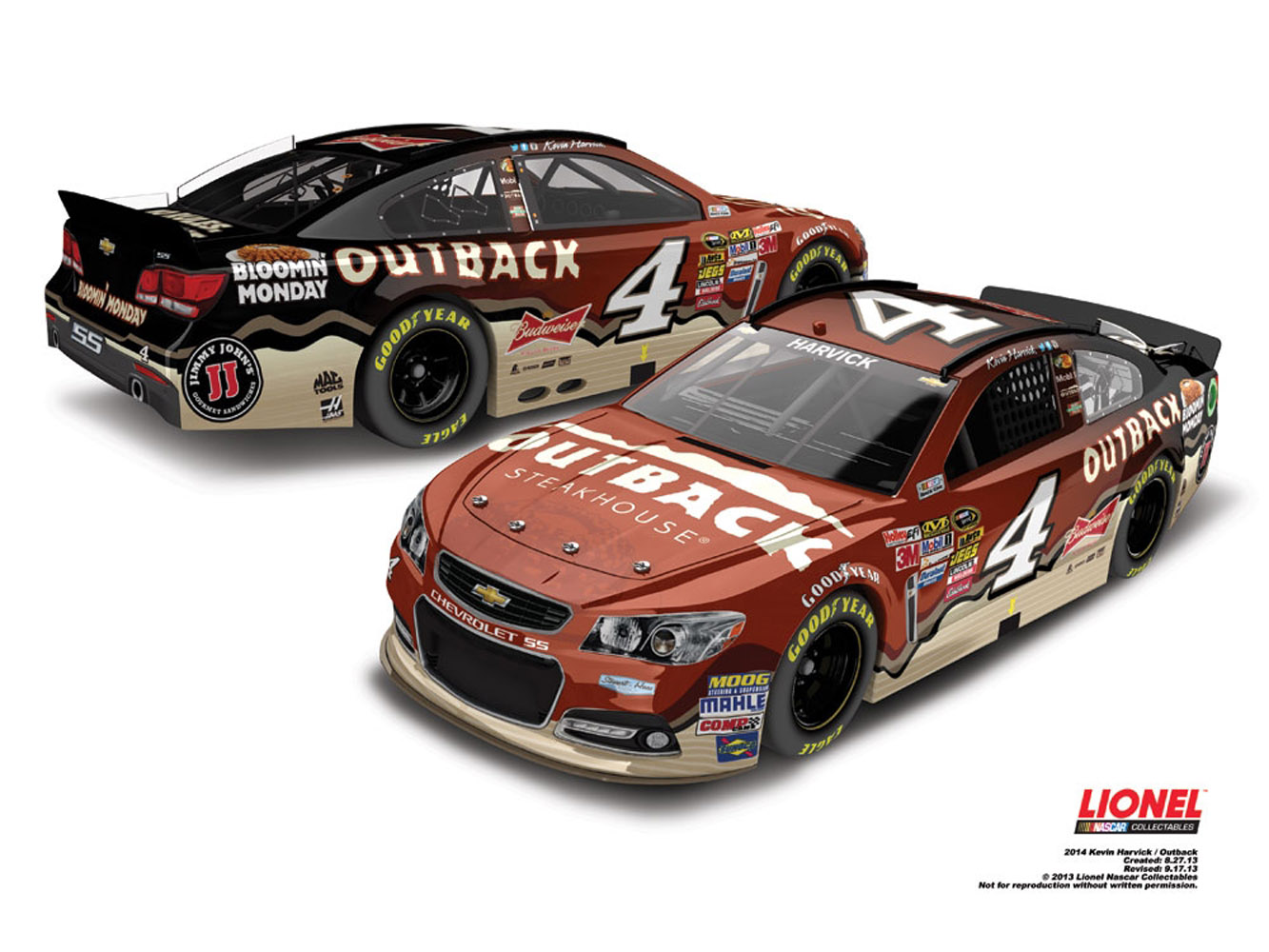 2014 Kevin Harvick #4 Outback 1:64 Diecast Car