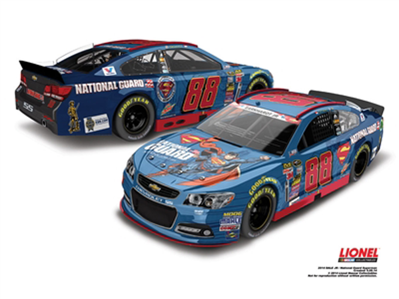 2014 Dale Earnhardt Jr #88 Superman 1:24 Nascar Diecast Car