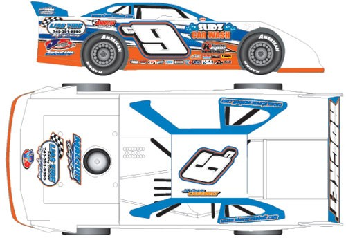 2016 Steve Casebolt c9 1/64  Dirt Late Model Diecast Car.