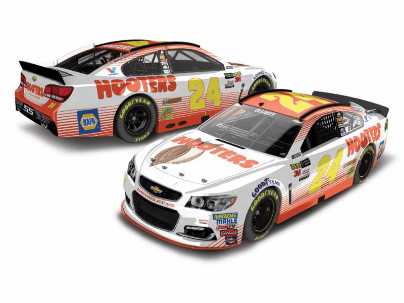 2017 Chase Elliott #24 Hooters 1:64 Diecast Car