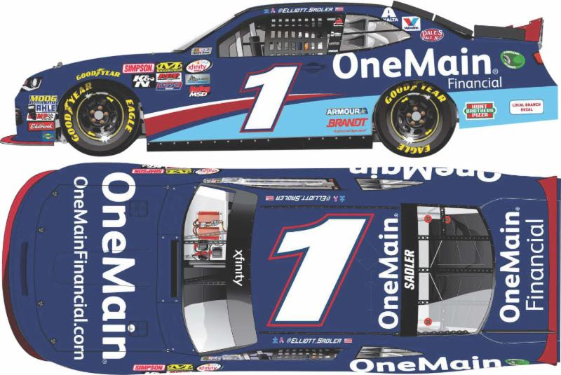 2017 Elliott Sadler #1 One Main Financial 1:64 Diecast Car