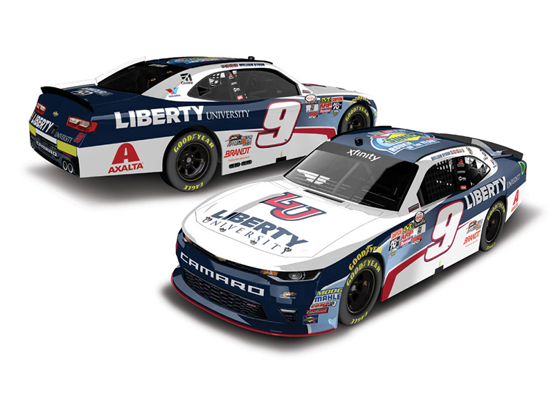 2017 William Byron #24 Liberty University ROTY 1:64 Diecast Car