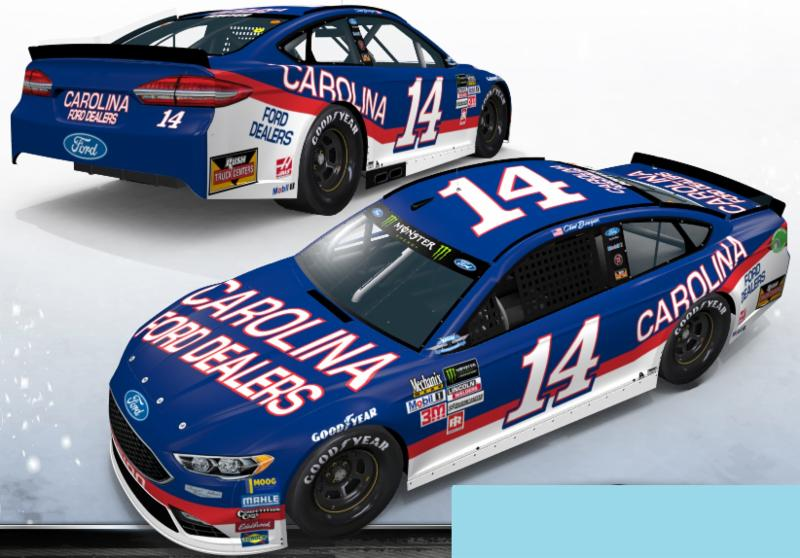 2017 Clint Bowyer #14 Carolina Ford Dealers Darlington Throwback 1:24 HO Diecast Car