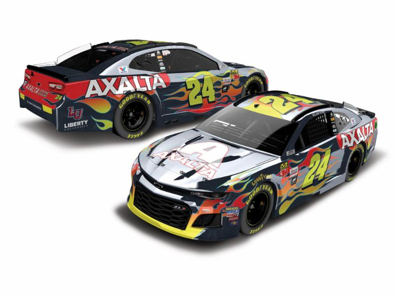 2018 William Byron #24 Axalta 1:24 HO Color Chrome Diecast Car