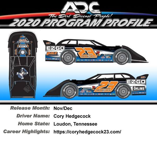 2020 Cory Hedgecock #23 1/64 Dirt Late Model Diecast Car