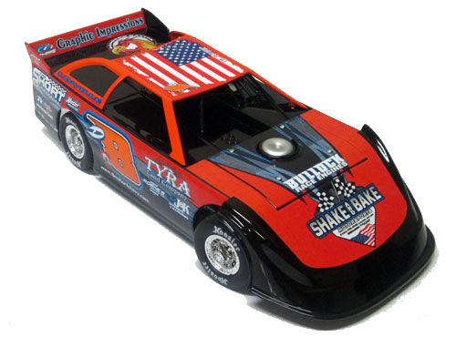 ADC Red Series. 2020 Dustin Linville #D8 Dirt Late Model 1/24 Diecast Car