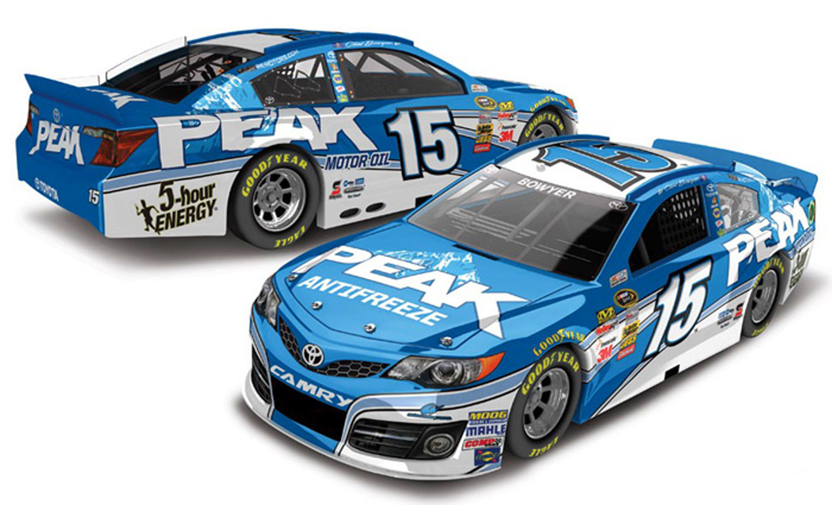2013 Clint Bowyer #15 Peak 1:24 Diecast Car