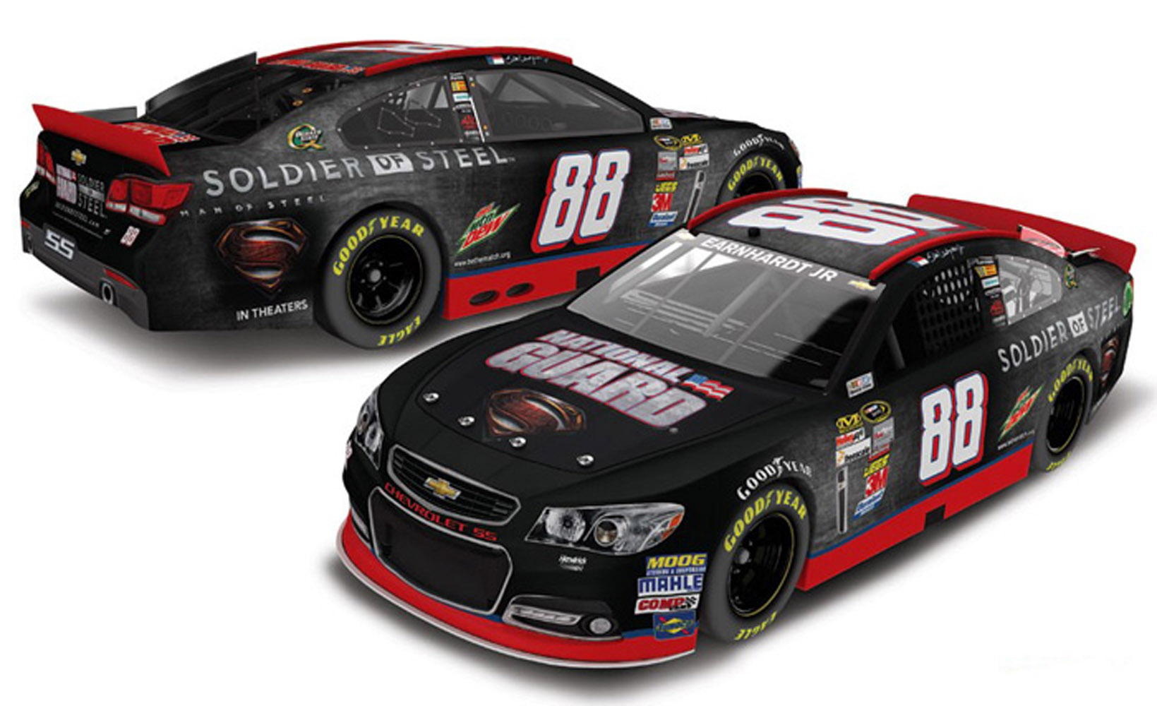 2013 Dale Earnhardt Jr #88 N / G Man of Steel 1:24 Nascar Diecast Car