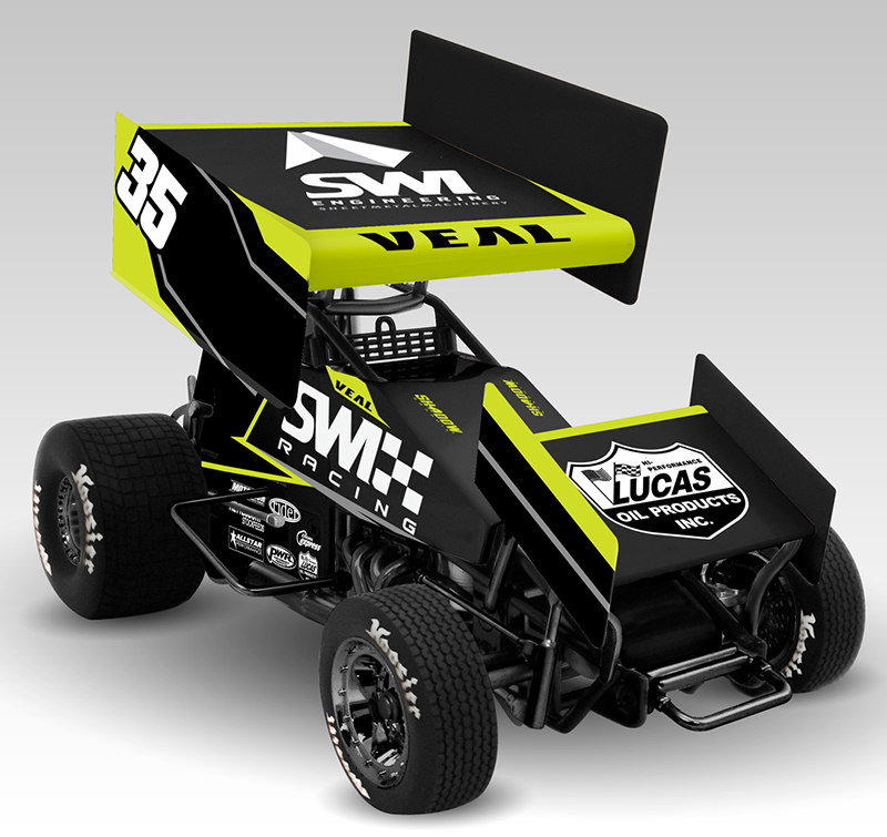 2017 Jamie Veal #35 SWI Racing 1/18 Diecast Sprint Car.