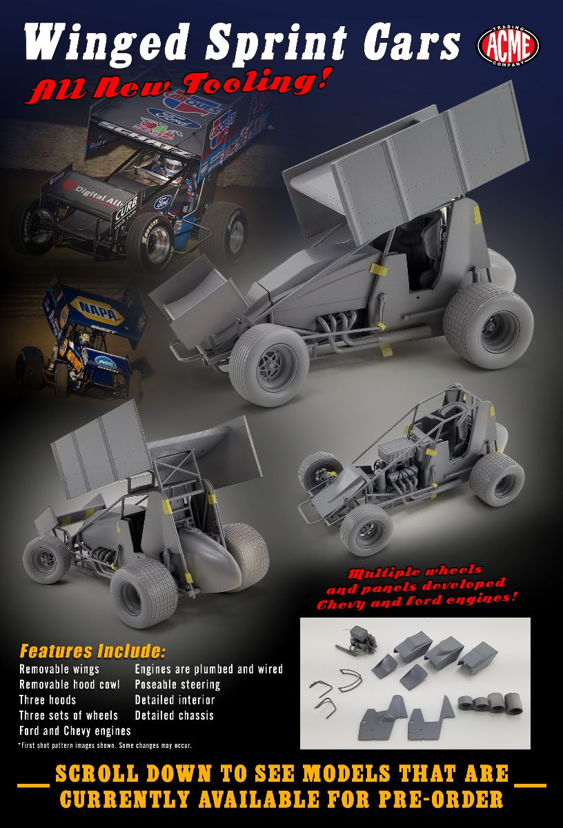 2021 Sammy Swindell #39 Bear Archery / Swindell Speedlabs 1/18  Sprint Diecast Car