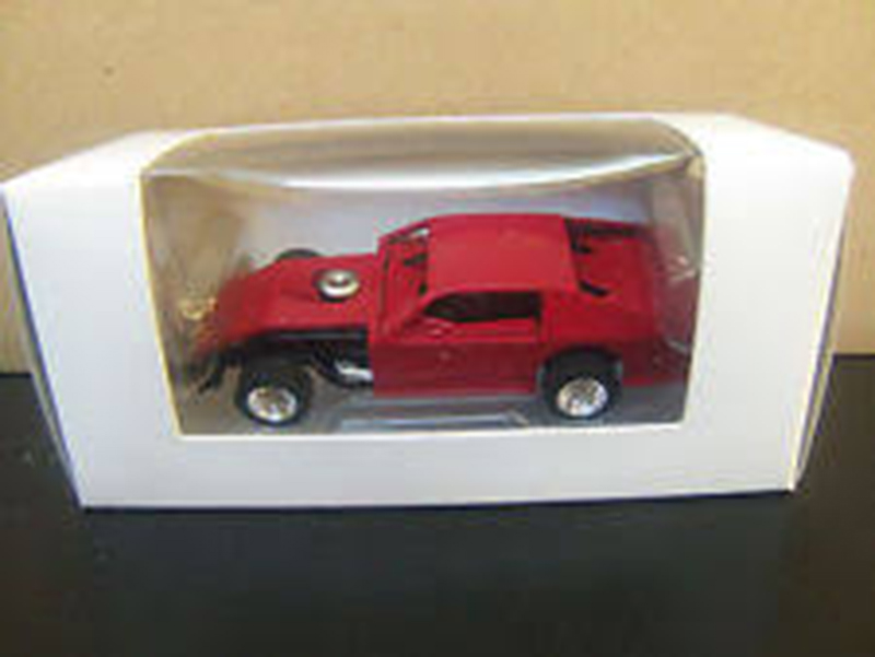 ADC Dirt Modified Blank Red Body Black Chassis 1/64 scale Car