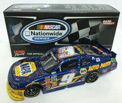 2014 Chase Elliott #9 Napa Darlington Raced WIN 1/24 Diecast Car.