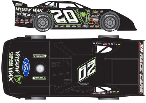 2015 JIMMY OWENS #20 1/24 Dirt Late Model Diecast Car.