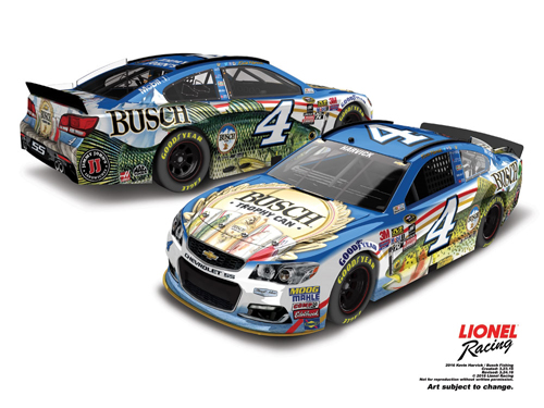 2016 Kevin Harvick #4 Busch Beer Fishing 1:24 Diecast Car