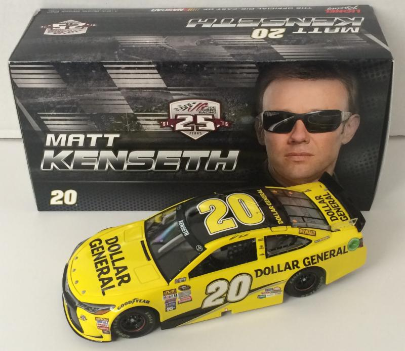 2016 Matt Kenseth #20 Dollar General 1:24 Diecast Car