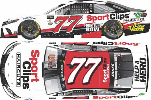 2017 Erik Jones #77 Sport Clips 1:24 HOTO Diecast Car