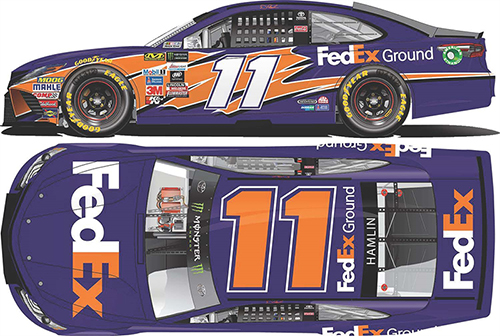 2017 Denny Hamlin #11 FedEx Ground 1:24 HOTO Diecast Car