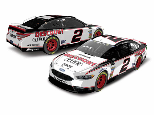 2018 Brad Keselowski #2 Discount Tire HO Color Chrome 1:24 Diecast Car