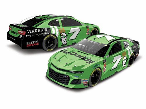 "2018 Danica Patrick #7 GoDaddy ""AUTOGRAPHED"" 1:24 HO Color Chrome Diecast Car."