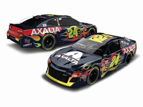 Autographed 2018 William Byron #24 Axalta 1:24 HO Diecast Car