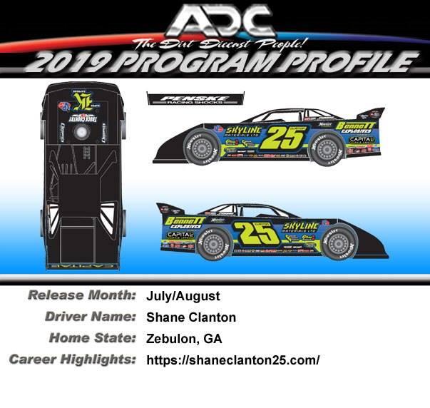 In Stock!! Devin Moran #1 Big C Tribute ADC Late Model Dirt Car 2019!