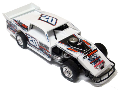 2019 Rodney Sanders #20 Dirt Modified 1/24 Diecast Car
