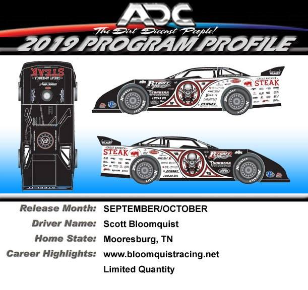 2019 Scott Bloomquist  #0 Steak Dirt Late Model 1/24 Diecast Car
