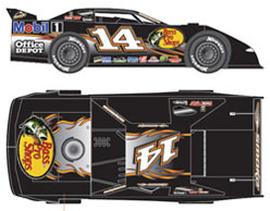 2012 Tony Stewart #14 Bass Pro 1/24 Dirt Late Model Car.