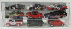Diecast 9 Car 1/24 Display Case